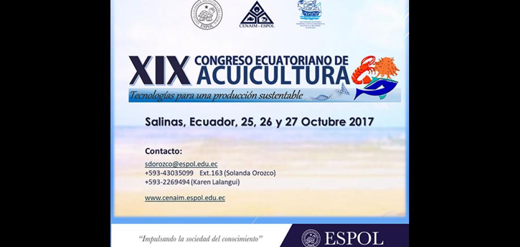 XIX Congreso Ecuatoriano de Acuicultura