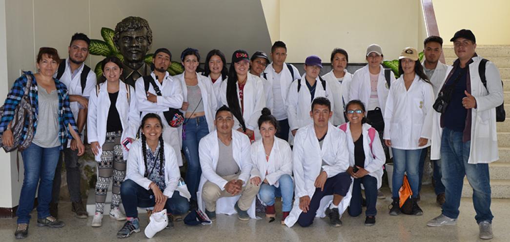ESTUDIANTES DE SAN JUAN DE PASTO, COLOMBIA EN CENAIM
